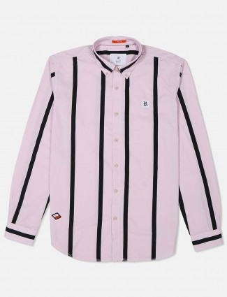 River Blue presented pink stripe shirt