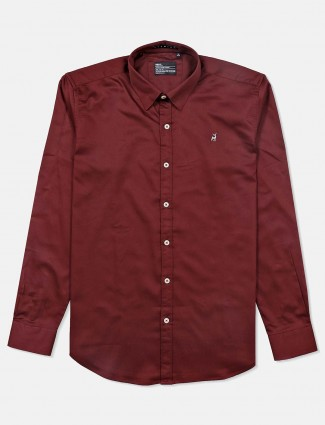 River Blue presented wine maroon shirt