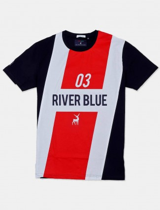 River Blue red and black printed t-shirt