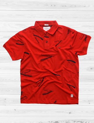 River Blue red slim fit mens t-shirt