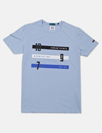 River Blue sky blue cotton mens t-shirt