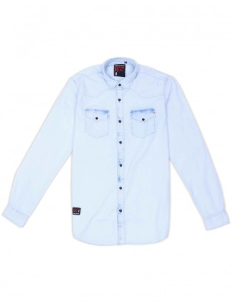 River Blue sky blue hue solid shirt