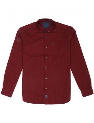 River Blue solid maroon hue shirt