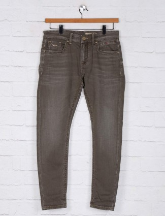Rookies khaki slim fit denim jeans