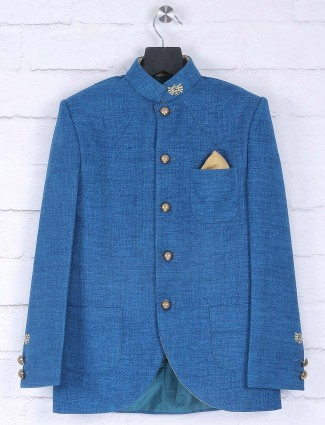 Royal blue hue jodhpuri suit for party