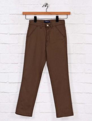 Ruff presented stripe olive trouser