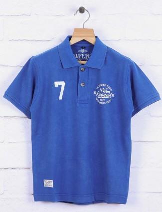 Ruff royal blue solid t-shirt