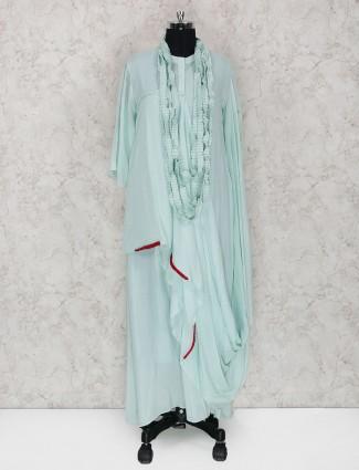 Sea green cotton fabric kurti