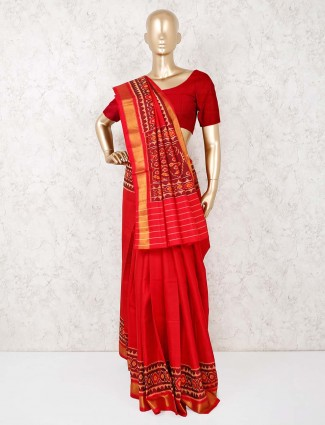 Silk red sari in wedding