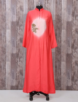 Simple red long kurti