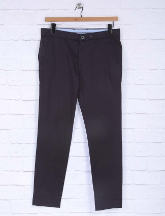 Six Element black simple cotton trouser