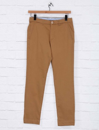 Sixth Element khaki mens simple trouser
