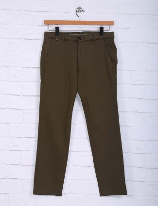 Sixth Element olive green slim fit trouser