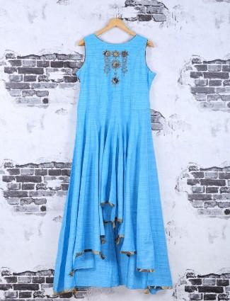 Sky blue color cotton kurti