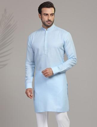 Sky cotton only kurta for festive
