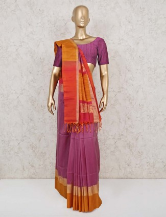 South pure silk saree in violet
