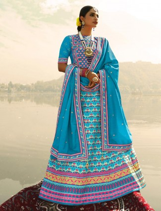 Splendid Blue festive wear readymade lehenga choli