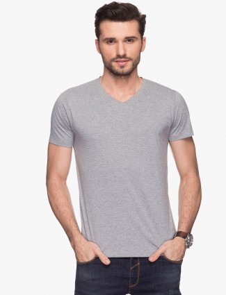 Status Quo grey cotton plain t-shirt