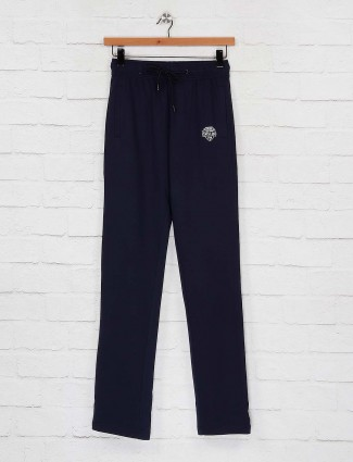 Status Quo navy hue solid track pant