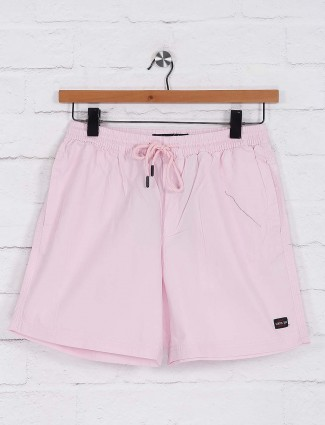 Status Quo pink hued solid shorts