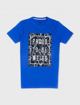 Status Quo solid blue t-shirt
