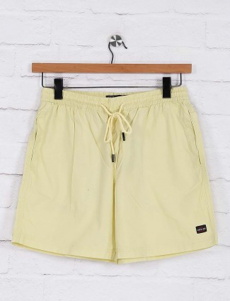 Status Quo solid yellow color shorts
