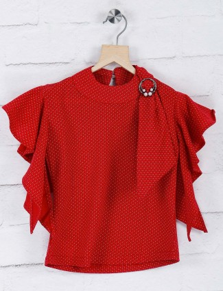 Stilomod lovely red casual top