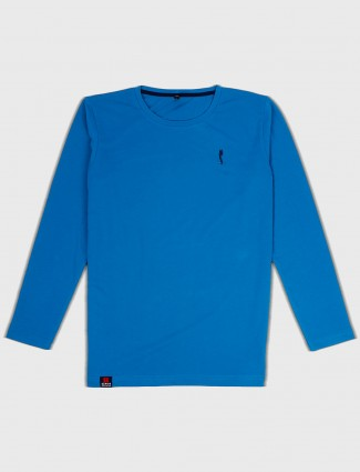 Stride cotton fabric blue t-shirt