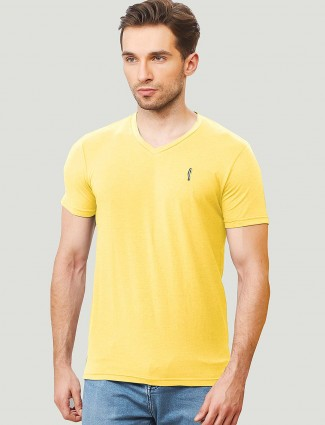 Stride lemon yellow slim fit t-shirt