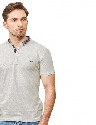 Stride light grey casual wear t-shirt