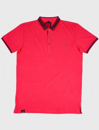 Stride magenta hue cotton t-shirt