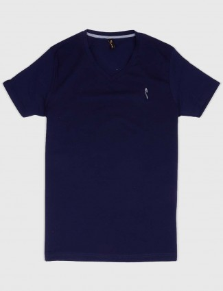 Stride navy color solid casual t-shirt