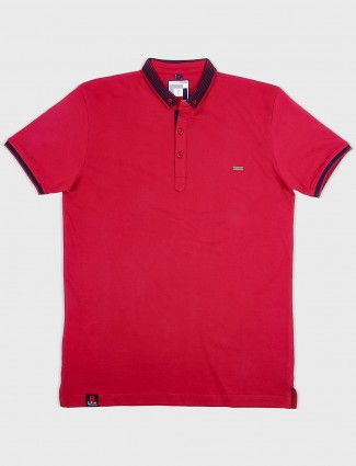 Stride red colot casual t-shirt