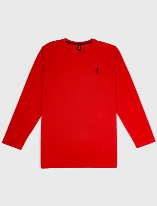 Stride red hue slim fit t-shirt