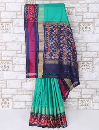 Stunning green patola silk saree