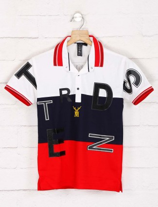 Sturd navy and red printed t-shirt