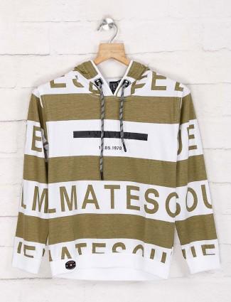 Sturd olive and white stripe t-shirt