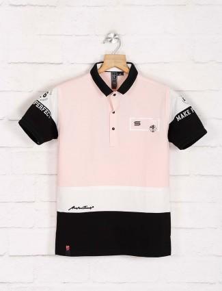 Sturd pink printed casual t-shirt