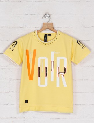 Sturd yellow casual t-shirt with print