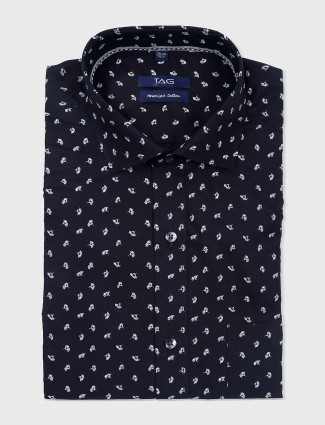 TAG black colored flower printed shirt