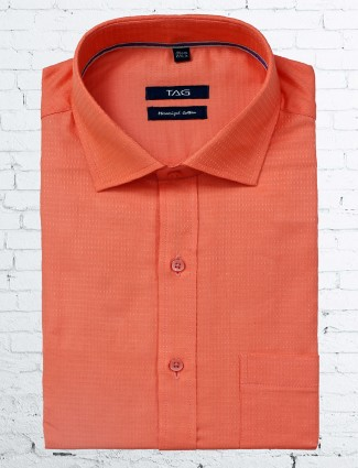 TAG bright peach shirt