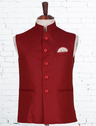 Terry rayon red waistcoat
