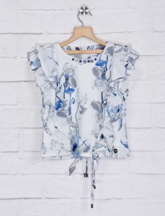 Tiny Girl georgette off white printed top
