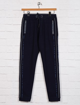 TYZ navy night wear solid track pant