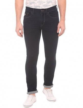 U S Polo Assn solid navy slim fit jeans