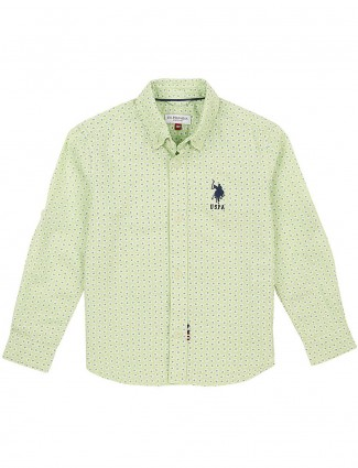U S Polo light green cotton shirt