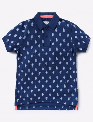 U S Polo navy hue simple t-shirt