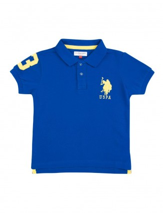 U S Polo royal blue solid t-shirt