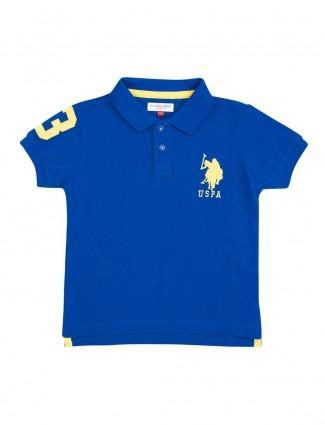 U S Polo royal blue solid t-shirt