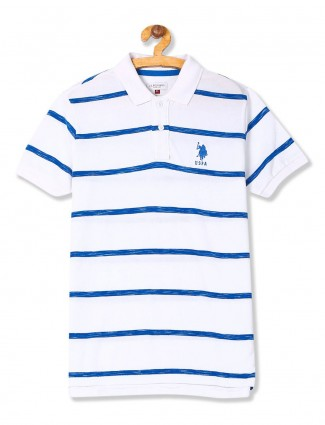 U S Polo stripe white color boys t-shirt